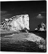 Aphrodites Rock Petra Tou Romiou Republic Of Cyprus Europe Canvas Print