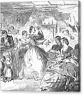 Apple Bee, 1859 Canvas Print