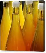 Apple Juice In Bottles Canvas Print