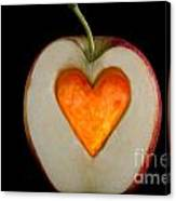 Apple With A Heart Canvas Print
