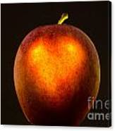 Apple With A Illuminated Heart Canvas Print