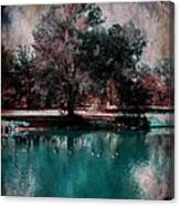 Aqua Pond Canvas Print