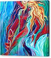 Aqua Rain Canvas Print