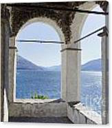 Arch And Lake Canvas Print