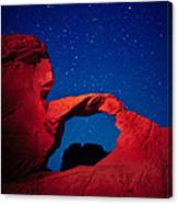 Arch In Red And Blue Canvas Print