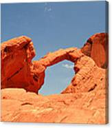 Arch Rock In Valley Of Fire Canvas Print
