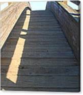 Arched Pedestrian Bridge At Martinez Regional Shoreline Park In Martinez California . 7d10525 Canvas Print