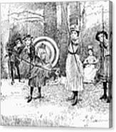 Archery, 1886 Canvas Print