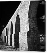 Arches Of The Kamares Aqueduct Larnaca Republic Of Cyprus Europe Canvas Print