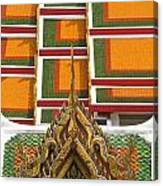 Architectural Detail Of Wat Pho Temple Canvas Print