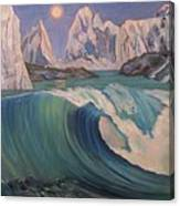 Arctic Ocean Glaciers Canvas Print