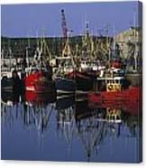 Ardglass, Co Down, Ireland Fishing Canvas Print