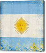 Argentina Flag Canvas Print