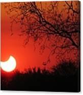 Arizona Eclipse At Sunset Canvas Print