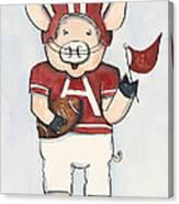 Arkansas Razorbacks - Football Piggie Canvas Print