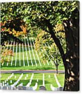 Arlington National Cemetery In The Fall  Canvas Print
