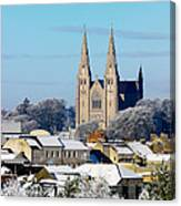 Armagh Cathedral In The Snow Canvas Print