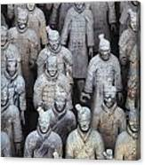 Army Of Terracotta Warriors In Xian Canvas Print