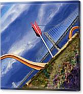 Arrow Through Bay Bridge Canvas Print