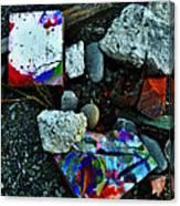 Art Amongst The Rubble Canvas Print