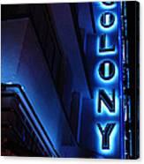 Colony Hotel Art Deco District Miami 2 Canvas Print