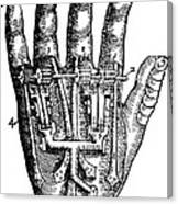 Artificial Hand Designed By Ambroise Canvas Print