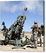 Artillerymen Fire-off A Round Canvas Print