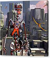Artists Concept Of A City Of The Future Canvas Print