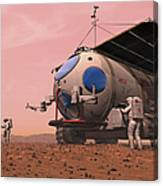 Artists Concept Of How A Martian Canvas Print