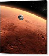 Artists Concept Of Nasas Mars Science Canvas Print