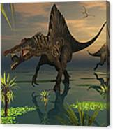 Artists Concept Of Spinosaurus Canvas Print