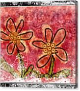 Artsy Daisies Canvas Print