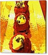 Artsy Kebabs Canvas Print