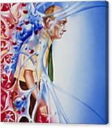 Artwork Depicting Parkinson's Disease Canvas Print