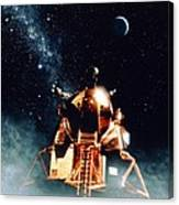 Artwork Of Apollo 11 Lunar Module On The Moon Canvas Print