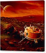 Artwork Of Huygens Probe On The Surface Of Titan Canvas Print