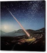 Artwork Of Meteorite Hitting The Ground Canvas Print