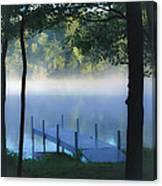 As The Lake Awakens Canvas Print