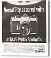 Asahi Pentax Spotmatic Canvas Print