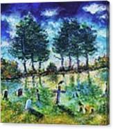 The Jolly Cemetery Canvas Print