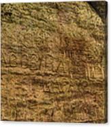 Ash Cave Etchings Canvas Print