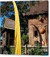 Asia Theming And Flags At Animal Kingdom Walt Disney World Prints Canvas Print