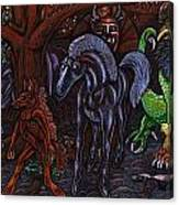 Asil At The Forest Lord's Midnight Gathering In Shitaki Canvas Print