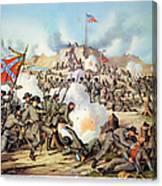 Assault On Fort Sanders Canvas Print