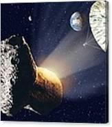 Asteroid Deflection Canvas Print