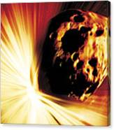 Asteroid Deflection, Stand-off Explosion Canvas Print