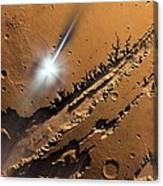 Asteroid Impact On Mars, Artwork Canvas Print