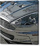 Aston Martin Db S Coupe Nose Detail Canvas Print