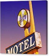 Astro Motel Retro Sign Canvas Print