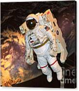Astronaut In A Space Suit Canvas Print